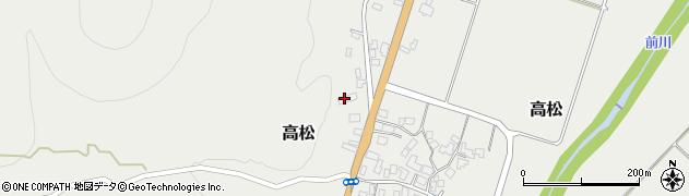山形県上山市高松134周辺の地図
