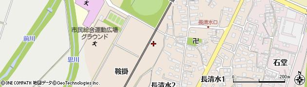 山形県上山市長清水鞍掛周辺の地図