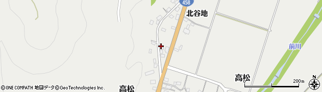 山形県上山市高松46周辺の地図