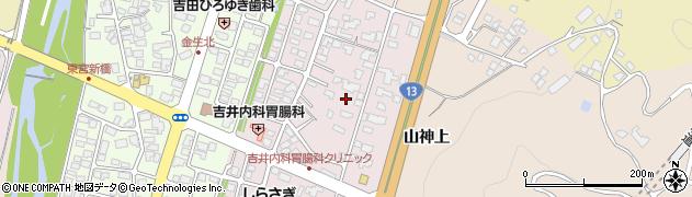 山形県上山市金生東1丁目周辺の地図
