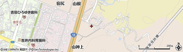 山形県上山市金生山根974周辺の地図