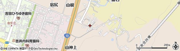 山形県上山市金生山根967周辺の地図