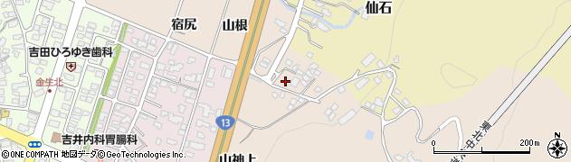 山形県上山市金生山根969周辺の地図