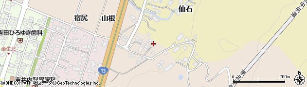 山形県上山市金生山根997周辺の地図