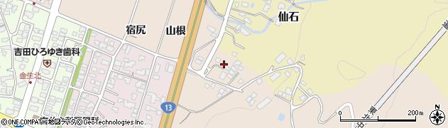 山形県上山市金生山根964周辺の地図