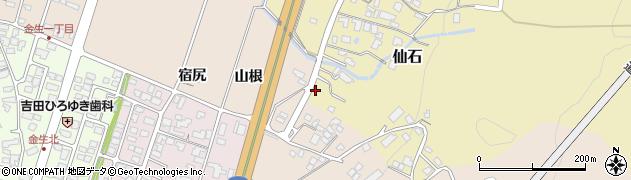 山形県上山市仙石屋敷続周辺の地図