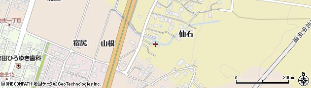 山形県上山市仙石375周辺の地図