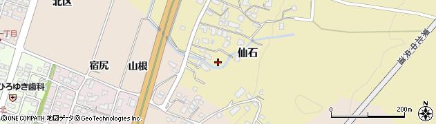 山形県上山市仙石(水尻)周辺の地図