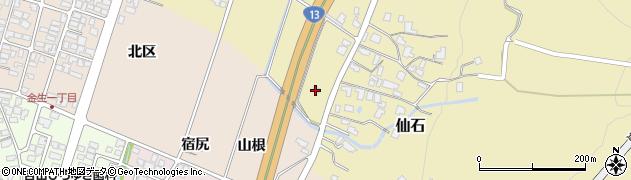 山形県上山市仙石828周辺の地図