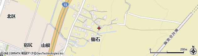 山形県上山市仙石341周辺の地図