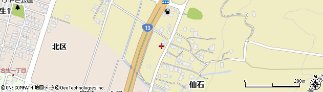 山形県上山市仙石389周辺の地図