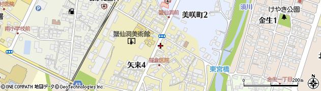 山形県上山市矢来4丁目周辺の地図