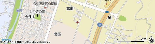 山形県上山市仙石高畑877周辺の地図