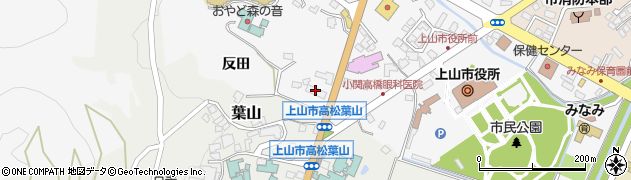 山形県上山市河崎4丁目周辺の地図