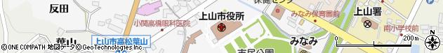 山形県上山市周辺の地図