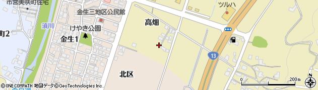 山形県上山市仙石高畑884周辺の地図