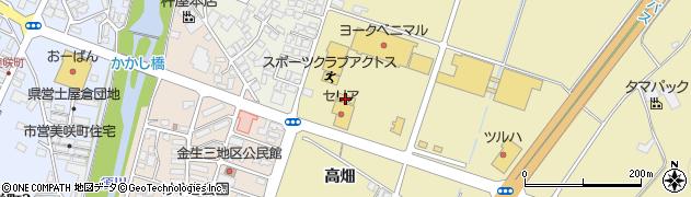 山形県上山市仙石周辺の地図