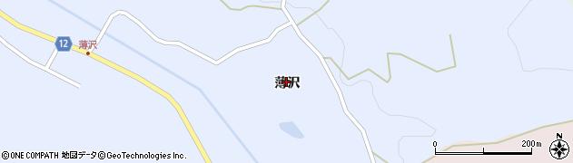 山形県上山市高野薄沢43周辺の地図