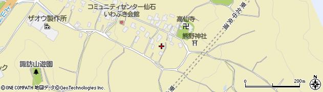 山形県上山市仙石5周辺の地図
