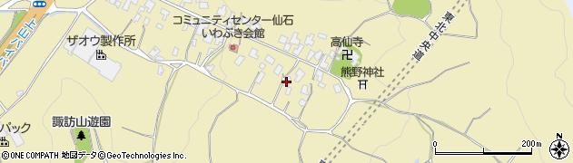 山形県上山市仙石11周辺の地図