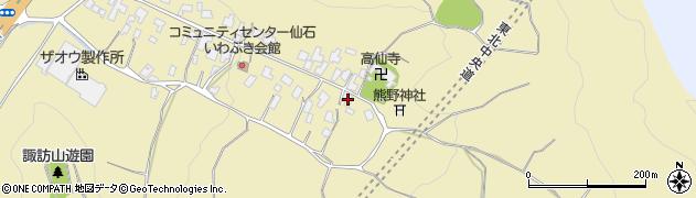 山形県上山市仙石3周辺の地図
