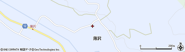 山形県上山市高野薄沢91周辺の地図