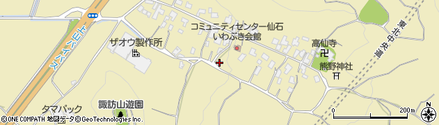 山形県上山市仙石27周辺の地図