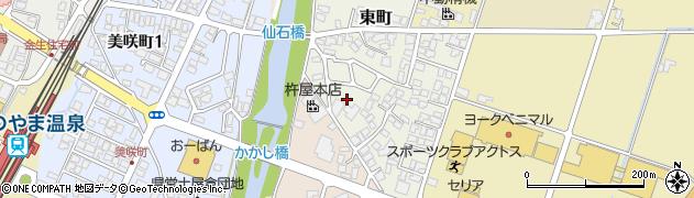 山形県上山市東町5周辺の地図