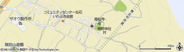 山形県上山市仙石4周辺の地図