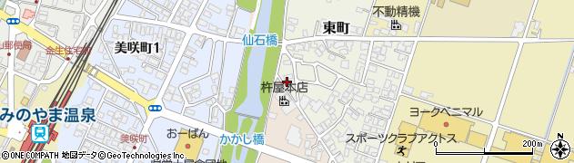 山形県上山市東町1周辺の地図