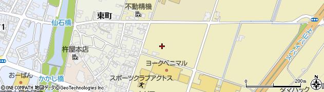 山形県上山市仙石大免周辺の地図