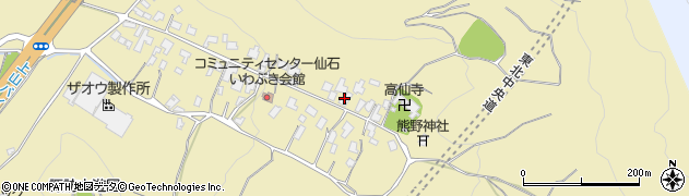 山形県上山市仙石12周辺の地図