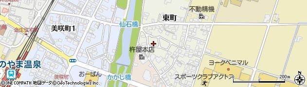 山形県上山市東町周辺の地図