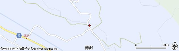 山形県上山市高野薄沢297周辺の地図