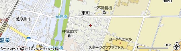 山形県上山市東町4周辺の地図