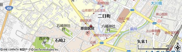 山形県上山市二日町2周辺の地図