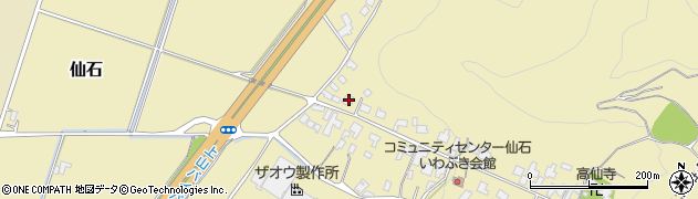 山形県上山市仙石46周辺の地図
