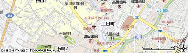 山形県上山市二日町3周辺の地図