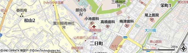 山形県上山市沢丁9周辺の地図