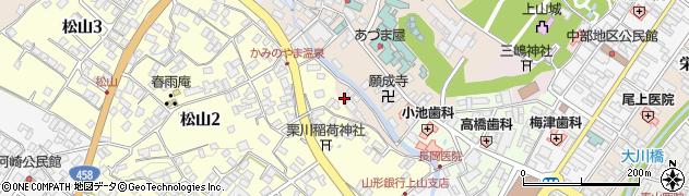 山形県上山市新湯3周辺の地図