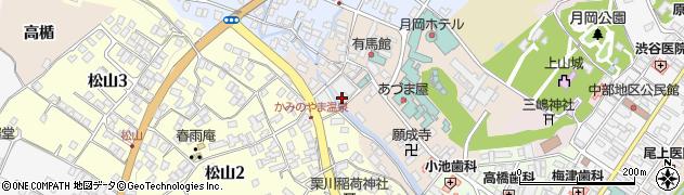 山形県上山市新湯4周辺の地図