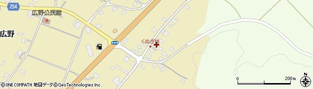 山形県西置賜郡白鷹町広野周辺の地図
