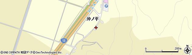 山形県上山市仙石下谷地周辺の地図