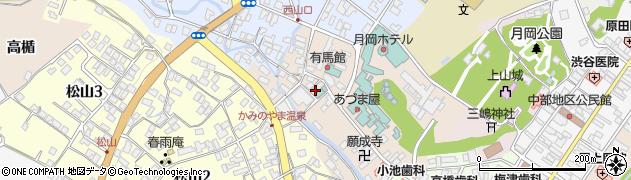 山形県上山市新湯5周辺の地図