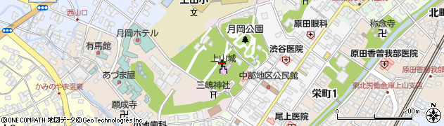 山形県上山市元城内3周辺の地図