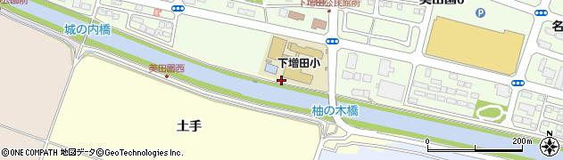 宮城県名取市下増田(土手北)周辺の地図