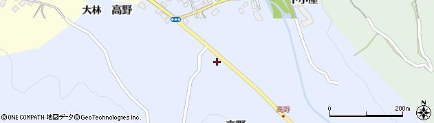 山形県上山市高野高野原292周辺の地図