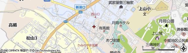 山形県上山市新湯7周辺の地図