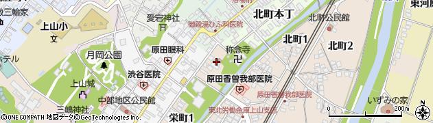 山形県上山市栄町1丁目周辺の地図