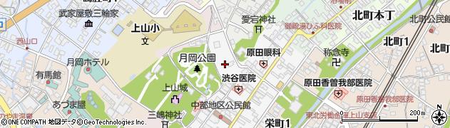 山形県上山市十日町8周辺の地図